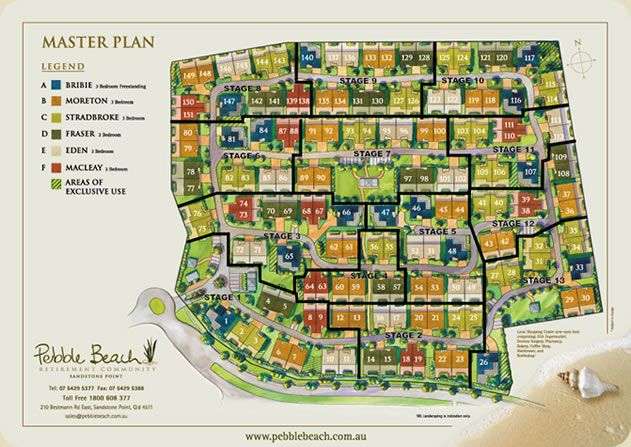 Pebble beach retirement community site plan urban for Retirement home plans