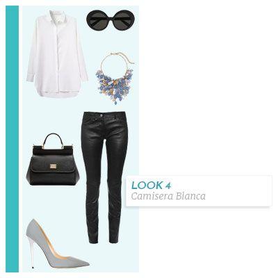 5 atuendos modernos con la camisera blanca   CoolTown Fashion