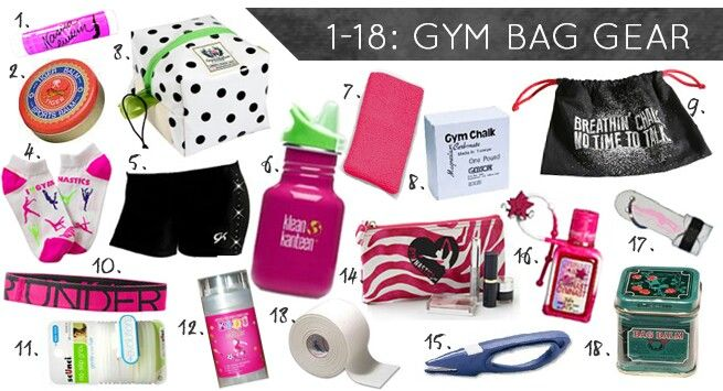 Gymnastics  gear for when you go to gymnastics