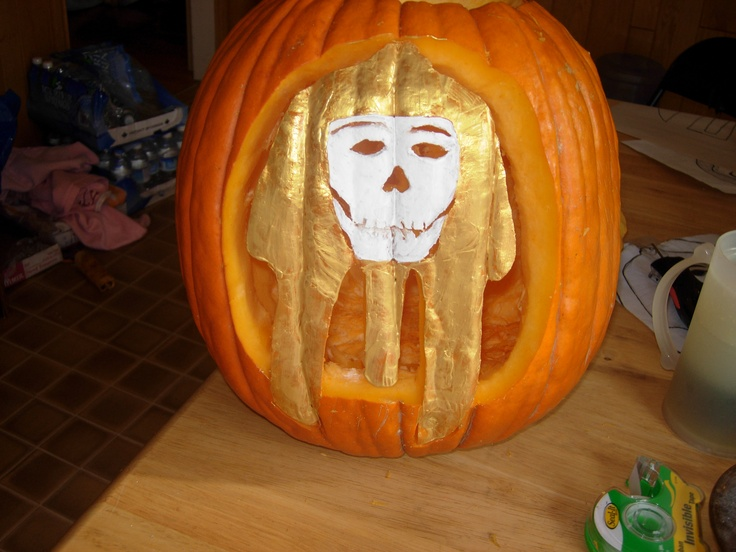 Wanted to do and egyptian themed pumpkin...