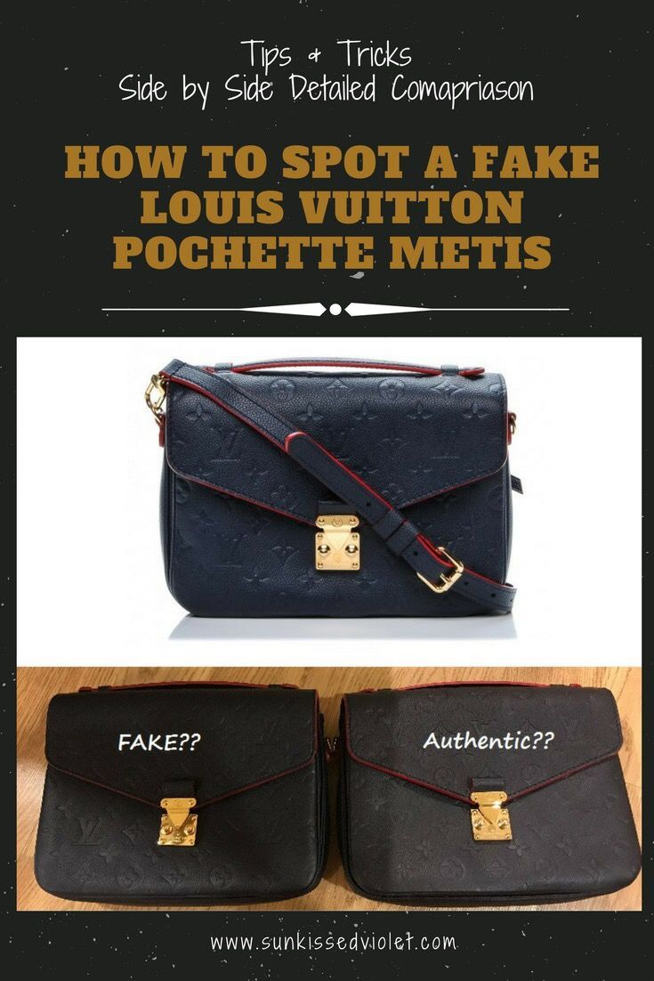 63aabee953a9 How to spot a fake Louis Vuitton Pochette Metis  Detailed Review and Side  by side Comparison