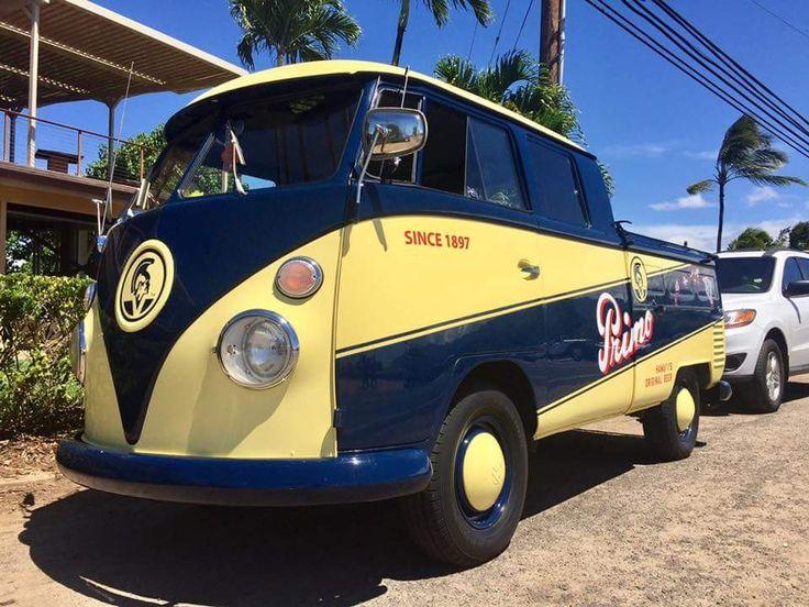 Haleiwa Harbour North Shore Oahu Splitty Buses Vw Bus