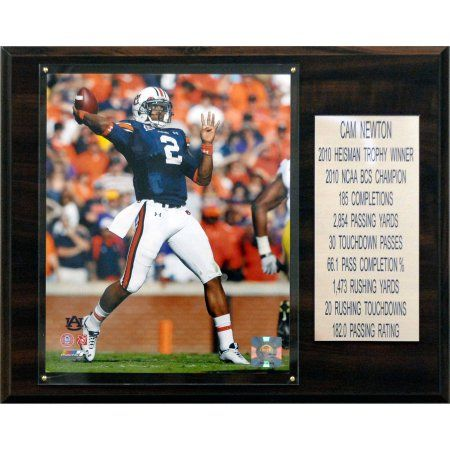 C Collectables Ncaa Football 12x15 Cam Newton Auburn Tigers Career Stat Plaque, Multicolor