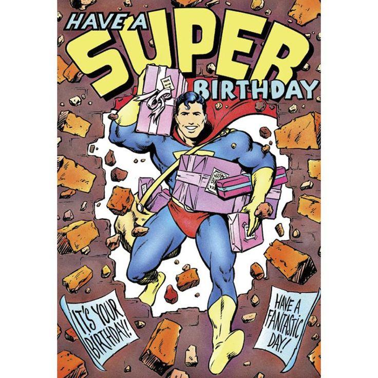 """Biglietto auguri """"Have a super birthday"""" a tema #Superman."""