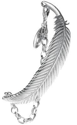 Large Miromiro Feather Silver Bracelet - Boh Runga | Shop New Zealand NZ$ 329.00