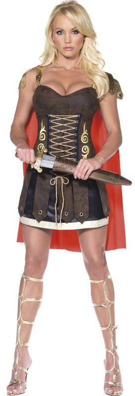 Sexy gladiatorpak voor dames : Vegaoo Volwassenen Kostuums
