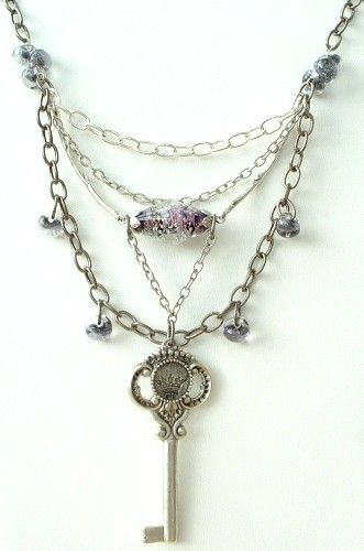 silver key necklace design idea from bead inspirations this is available as a kit
