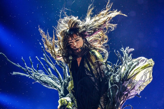 Loreen from Sweden get euphoric during Eurovision Song Contest 2012 in Baku, Azerbaijan as she performs her winning entry Euphoria.