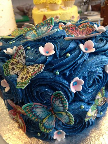 Parklife Cafe, Worthing Sussex - butterfly cake
