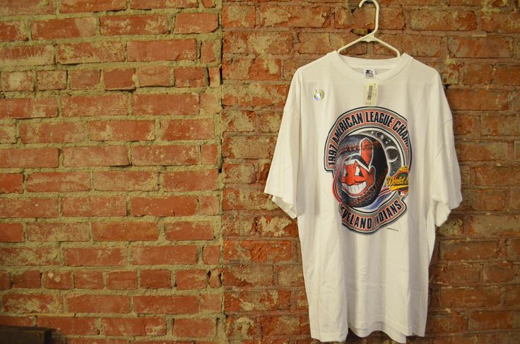 NEW WITH TAGS! Vintage 1997 Cleveland Indians World Series Baseball Unisex T-Shirt! by ThriftsNKicks on Etsy