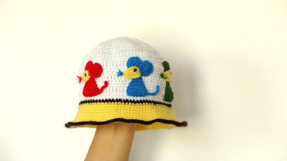 Cute Baby Mouse Hat  crochet with applications  2 years by zolayka, $24.00