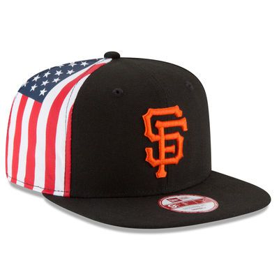San Francisco Giants New Era Flag Side Original Fit 9FIFTY Snapback  Adjustable Hat - Black