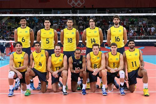 Men´s volleyball team brazil olympics 2016. Brasiliens herrar vann guldet i volley boll, seger med 3-0 i set över Italien (silver), brons USA som vann bronsmatchen över Ryssland med 3-2 i set.