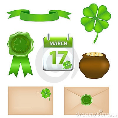 Patricks Day Symbols by Iadamson, via Dreamstime
