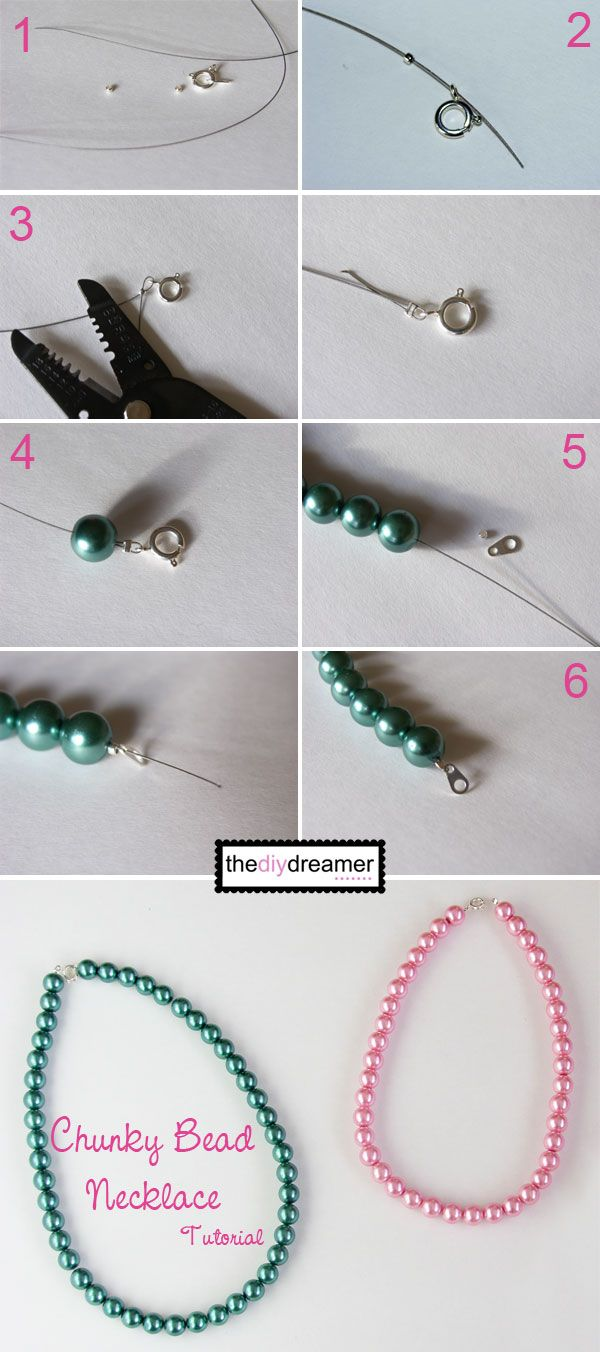 Chunky Bead Necklace Tutorial - The D.I.Y. Dreamer