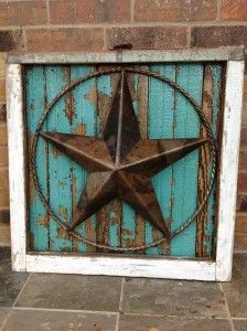 framed in texas star.....turquoise. i have the star now all i need is the frame!