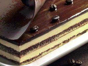 Torta Opéra con cioccolato, mandorle e caffè   Peccati di Gola