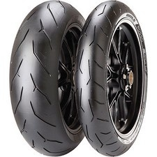 PIRELLI DIABLO ROSSO CORSATHREE-ZONE COMPOUND ULTRA HIGHT-PERFORMANCE TIREProfiles and structures set the new benchmark, manufactured with the latest world superbike compound technologyFeature Pirellis patented EPT (Enhanced Patch Technology), matched with a three-zone compound rear, optimizes the contact patch for the best grip on the road and on the trackFeature