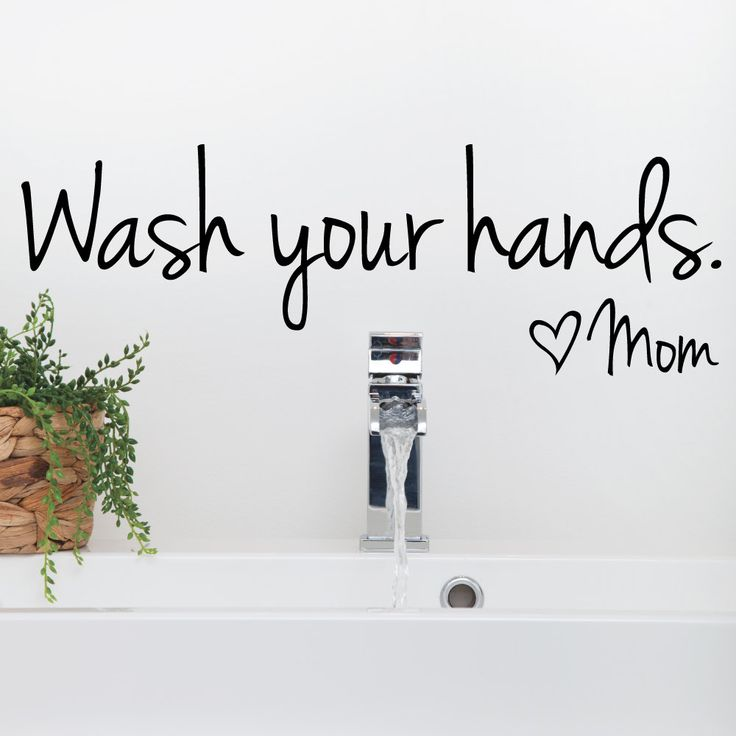 I Love This Wash Your Hands Wall Decal By Luxe Loft On Etsy. Remind Your