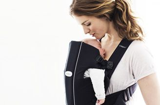 babybjorn baby carrier-original-detail-breathing.  My lifesaver for shopping with an infant.  It was easy to use for both of us.
