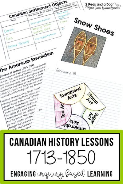 Teachers are provided with 38 in-depth, engaging, and cross-curricular lessons to help their students explore and understand New France, British North America, and the Conflict and Challenges eras 1713 - 1850 of Canadian history. Engaging lessons for the Grade 7 Ontario History Curriculum. ($) #canadianhistory #historylessons #teacherspayteachers