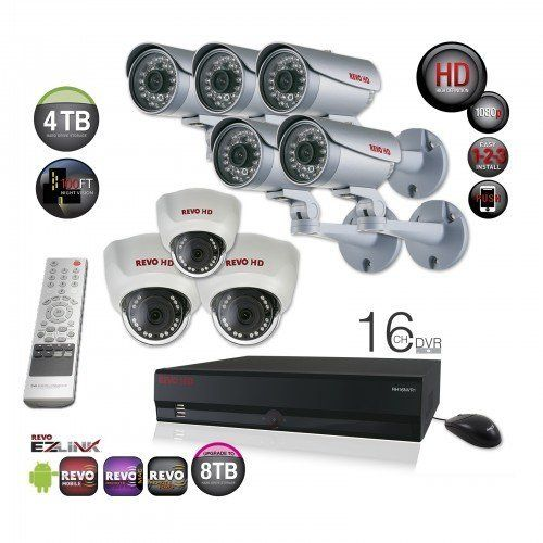 #Professional #Surveillance System Bundle - 16 Channel #Network #Video Recorder with Huge 4TB Storage and 8 HD #CCTV Cameras (Indoor/Outdoor, #Weatherproof, Day Night Vision) $2,399.99