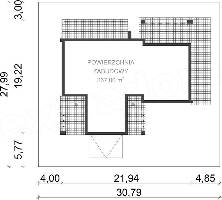 Projekt domu uA122 Floor plans, House