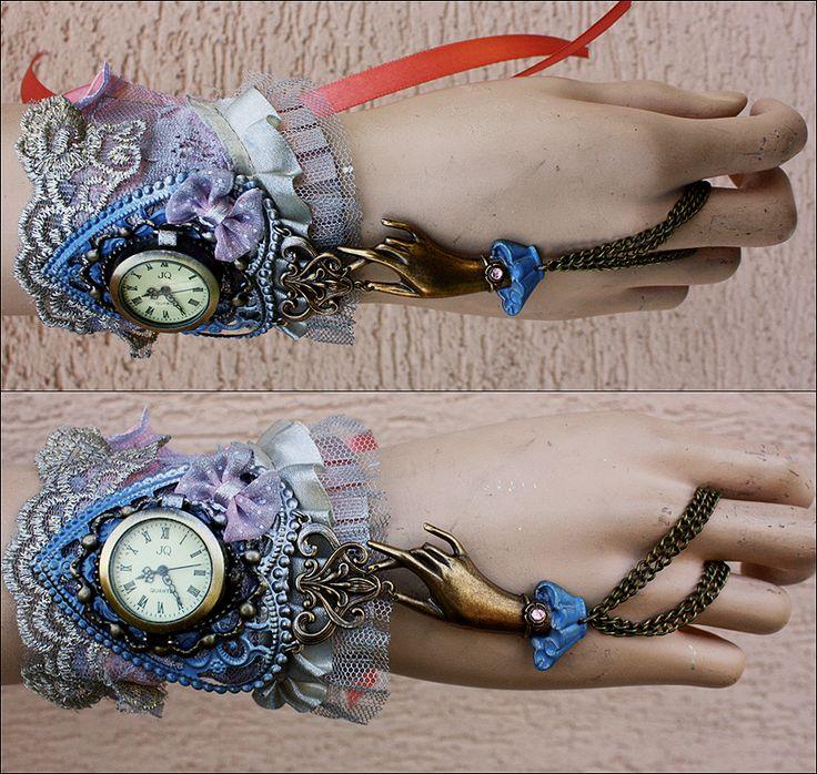 Pastel goth Lolita cuff by Pinkabsinthe on DeviantArt