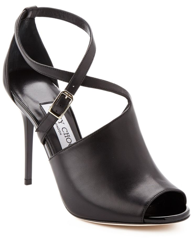 """Jimmy Choo """"Leigh"""" Leather Peep-Toe Pump is on Rue. Shop it now."""