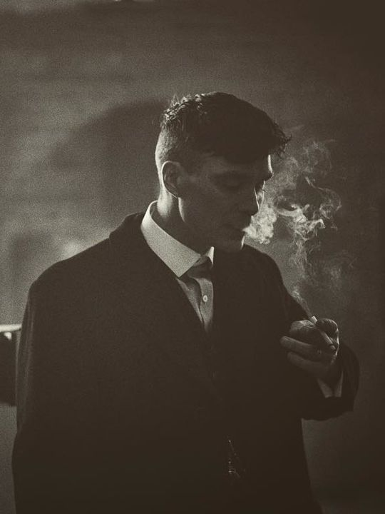 """ohfuckyeahcillianmurphy: """"Before the take… Cillian Murphy on the set of Peaky Blinders S3 by Robert Viglasky """""""
