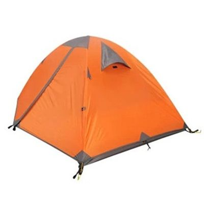 Water-Proof Orange Backpacking 2-Person 3-Season Sundome Tent (6x6 Feet)