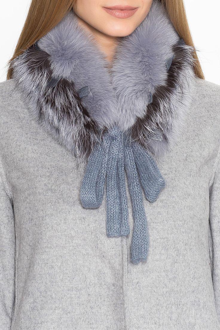 Горжетка из меха песца с отделкой из меха лисы Mooffi SO-182370 за 12000 руб. Интернет магазин брендовой одежды премиум-класса онлайн бутик - Topbrands.ru
