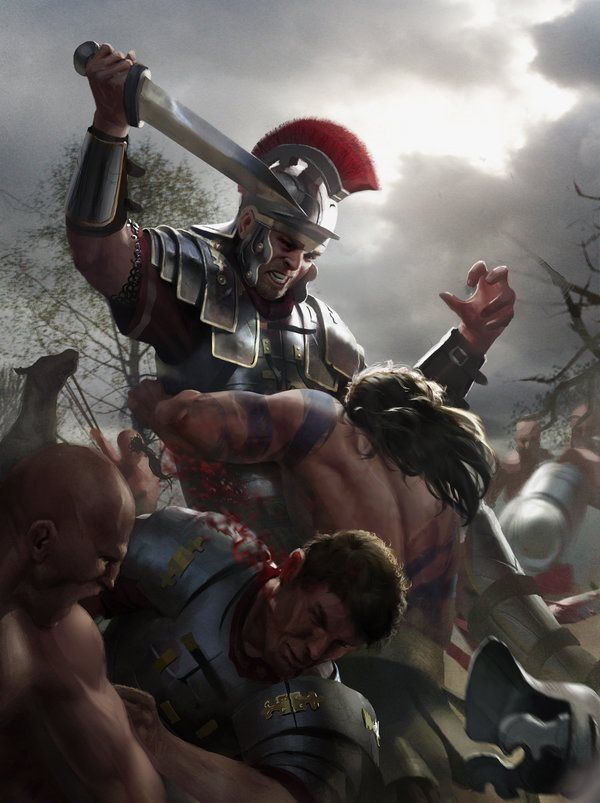This is Sparta and I am ambushing people with my sword.