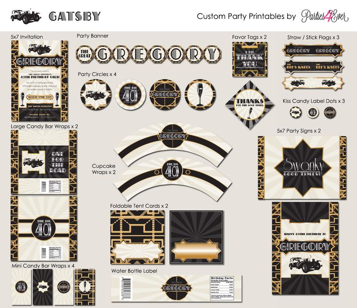 great gatsby party | Ever Party Printables! Print, Trim, Use, Enjoy – The Great Gatsby ...