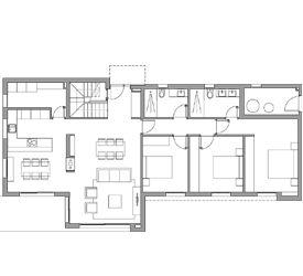 Casas modulares   Casas Prefabricadas - Modelo Montgat - 3 DORMITORIOS 3 BAÑOS/ 191,60m2