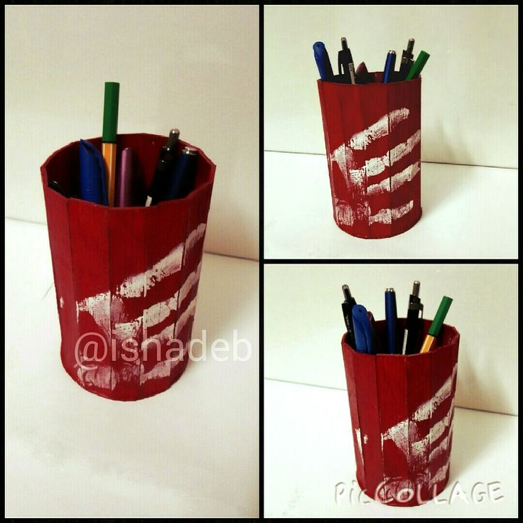 DIY.. penstand with popsicle stick