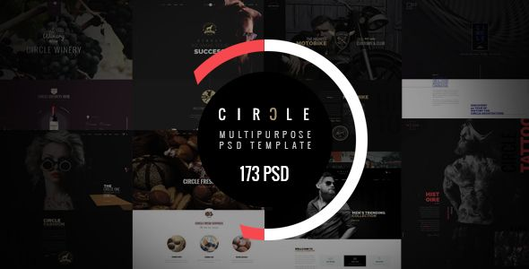 CIRCLE - Creative Multipurpose PSD Template. Full view: https://themeforest.net/item/circle-creative-multipurpose-psd-template/16607046?ref=thanhdesign