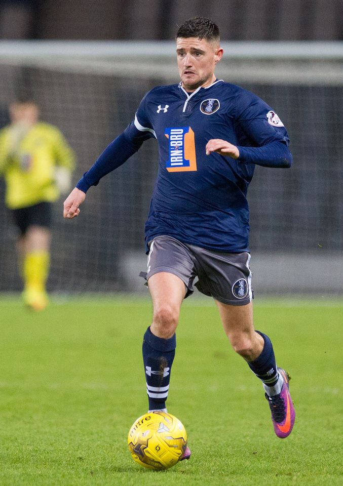 Queen's Park's Paul Woods in action during the Ladbrokes League One game between Queen's Park and Albion Rovers.
