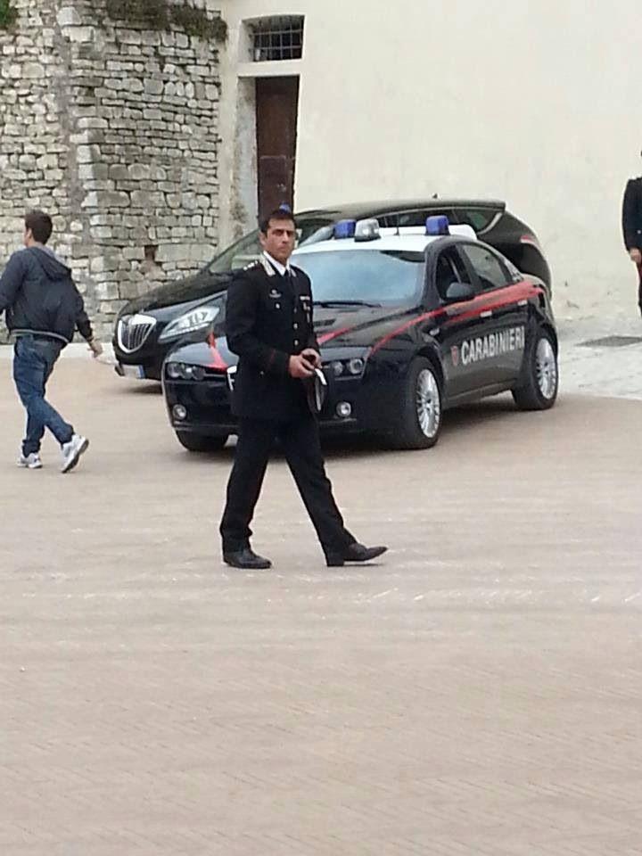 Simone Montedoro as captain Guilio Tommasi  filming Don Matteo 9 in Spoleto, Italy