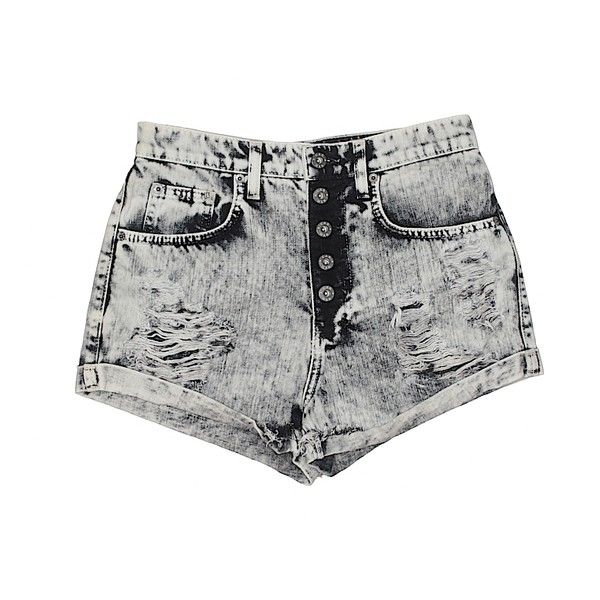 Car Mar Denim Shorts (1.265 UYU) ❤ liked on Polyvore featuring shorts, bottoms, pants, beige, denim short shorts, denim shorts, beige shorts, cotton shorts and jean shorts