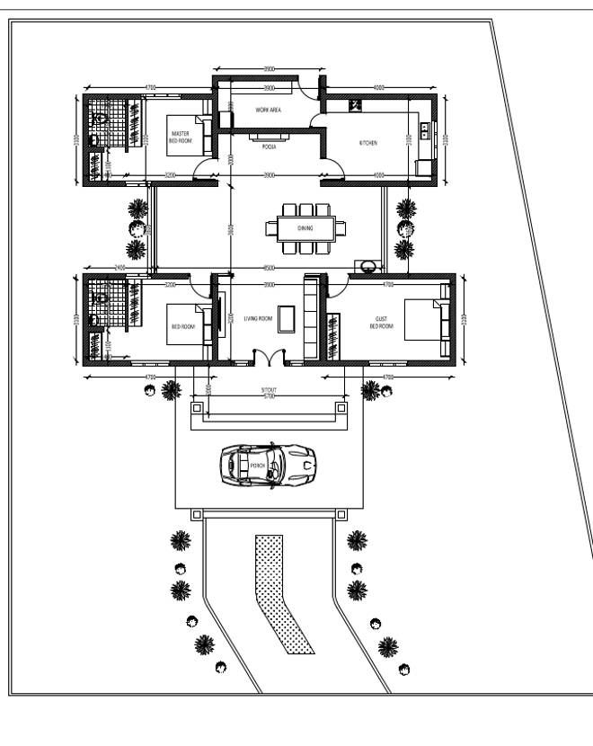 3 Bedroom Home In 1500 Sqft For 25 Lakhs With Free Plan Kerala House Design New House Plans Courtyard House Plans