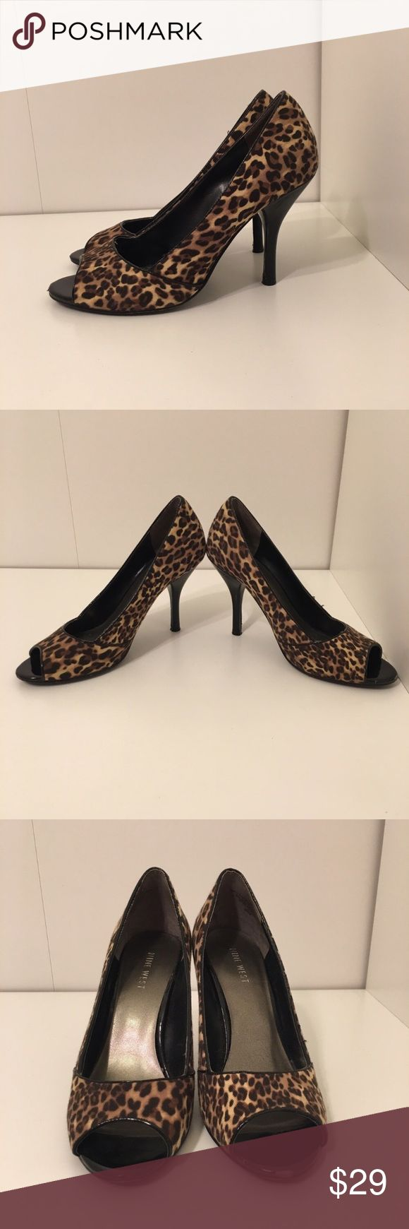 Nine West cheetah heels This pair of cheetah print heels are designed by Nine West. Great condition! No stians. Signs of wear. See images Shoes Heels
