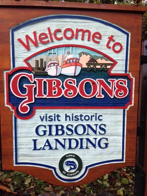 Visit Gibson's Landing, in BC