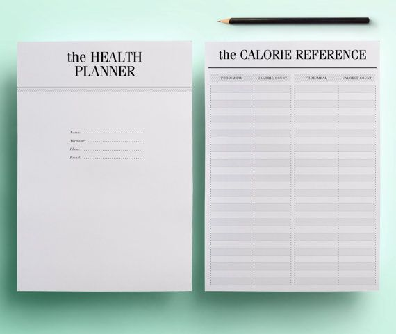 THIS LISTING IS FOR AN A5 FITNESS ORGANIZER / PLANNER PAGES.  Get organized in style with this Health and Fitness Printable Planner Pack that