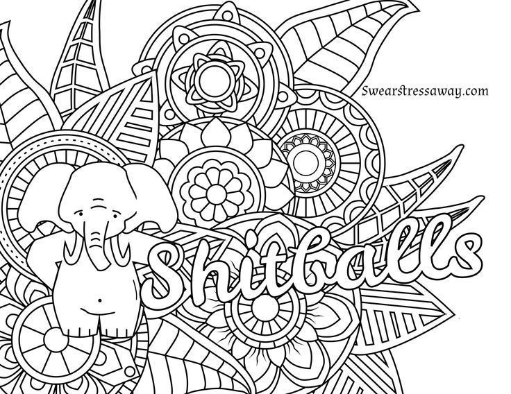 792 Best Swear Word Coloring Pages Images On Pinterest
