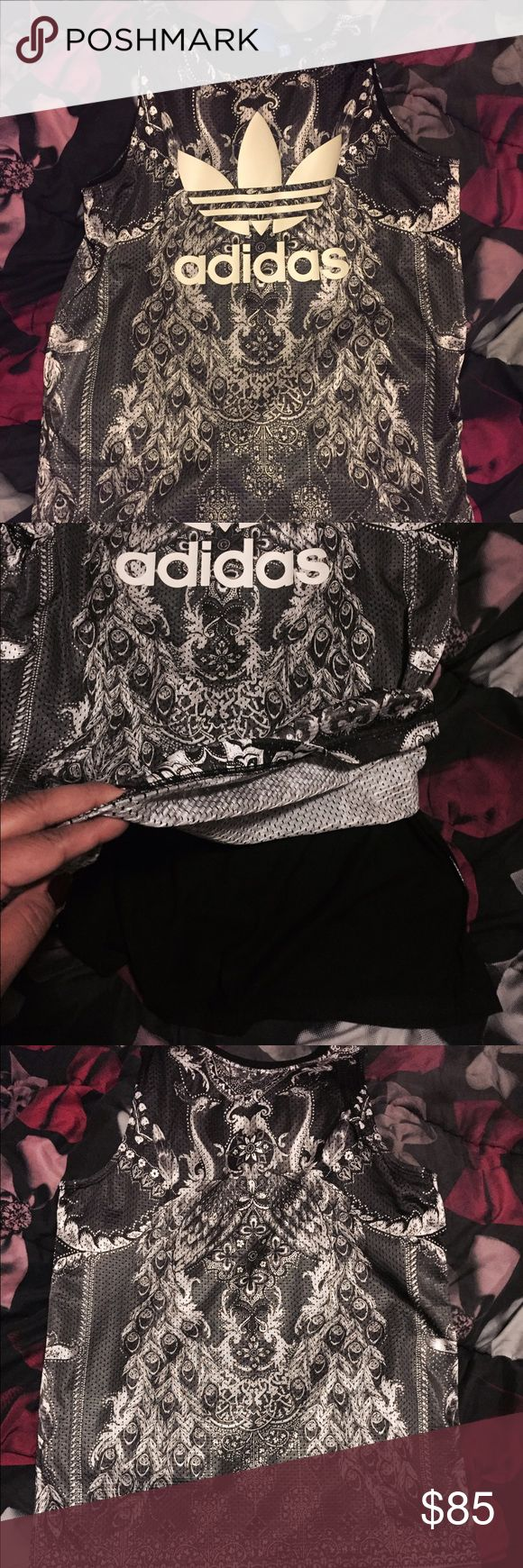 Adidas Originals Dress, can be long tee also BRAND NEW with tags, never worn, GORGEOUS design, Originals Brand Women's, Size Small, Tag says dress but it could be used as an oversized/ long tee Adidas Tops Tees - Short Sleeve