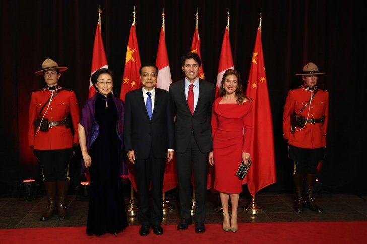 Sophie Trudeau Stands by Kate Middleton, but Her Style's Way More Daring She Owns a Little Red Dress That's Modest, but Striking She chose the Tracy Moore by Freda's design for the China state dinner.