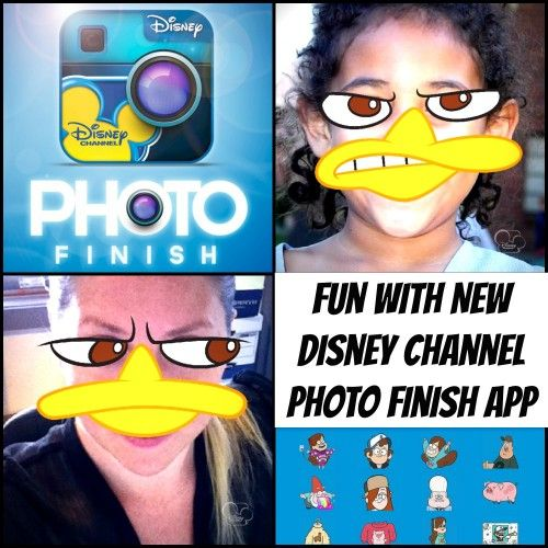 Funny Photo Editing with New #Disney Channel Photo Finish App!