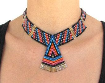 Semilla collar con colgantes de amatista y por HANWImedicineArt