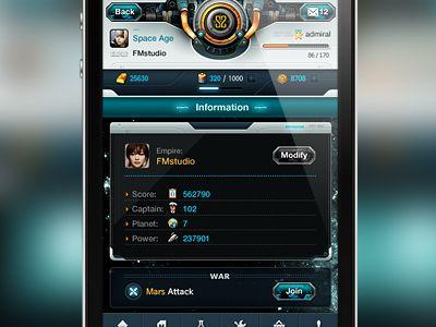 Impressive #iphone #ui #design for a real strategic game app.